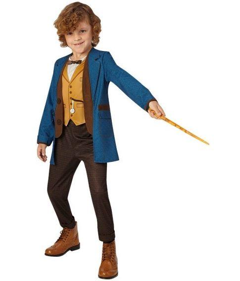 Newt Scamander kostume til børn med tryllestav.