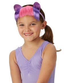 MLP Twilight Sparkle hårbøjle med ører og pandehår.