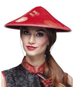 Rød hat med flotte guld detaljer