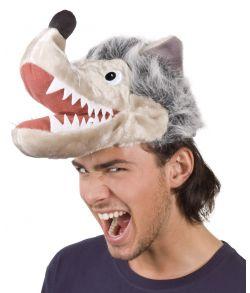 Blød ulvehat med grå pels