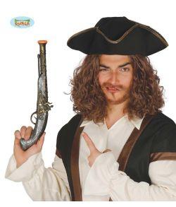 Gammel plastik flintelåspistol til Pirat eller Musketer udklædningen.