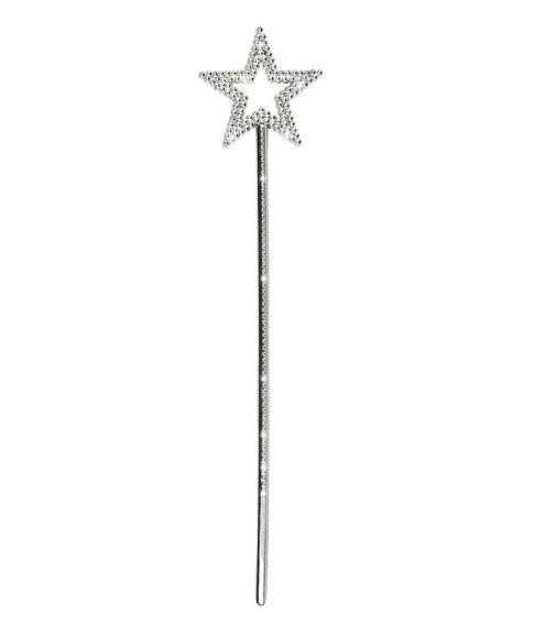 Flot festav med pyntesten, i sølv. 35 cm. lang