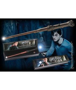 Harry Potter tryllestav med lys i spidsen fra Noble Collection.