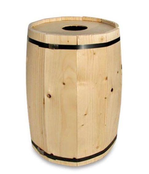 Fastelavnstønde i birk med huller til reb. 40 cm.