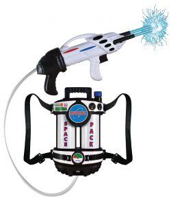 Spacepack med pistol, det kan fyldes og skyde med vand.