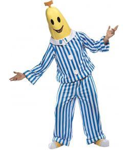 Bananer i Pyjamas kostume med bluse, bukser, maske og skocover.
