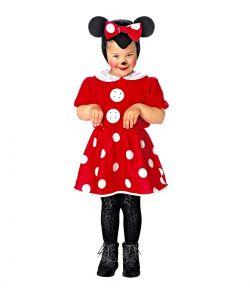 Minnie Mouse kostume til små piger.