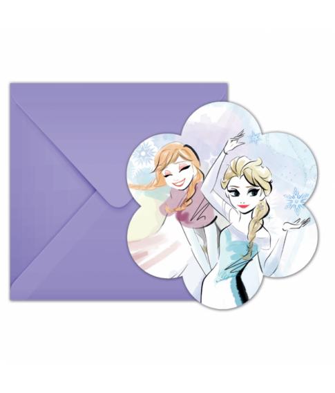 Flotte invitationer med kuverter fra Frost Sparkle serien.
