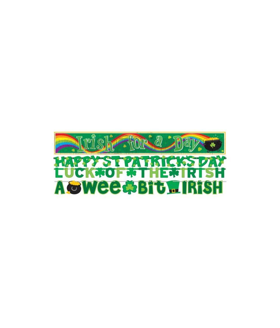 Flot 4 i 1 banner sæt til Sankt Patricks dag.