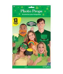 Sjovt Sankt Patricks dag foto prop sæt med 13 dele.