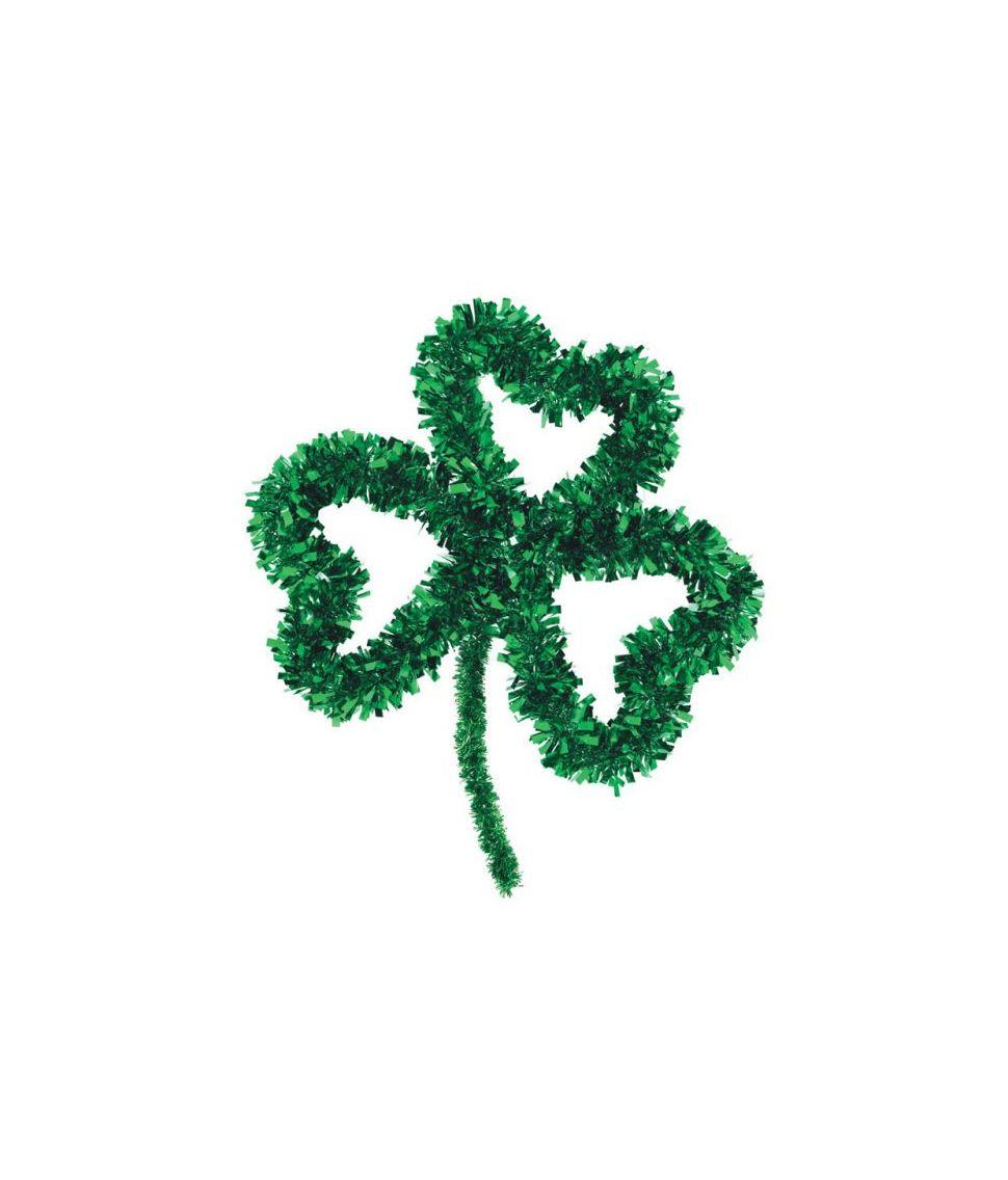 Trekløver dekoration med folie til Sankt Patricks dag