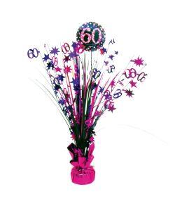 Flot pink bordpynt til 60 års fødselsdag