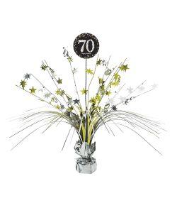 Flot bordpynt 70 års fødselsdag sparkling