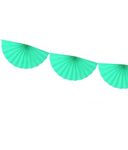 Mint vifte guirlande i papir med 9 vifter.