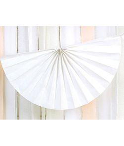 Hvid vifte guirlande i papir med 9 vifter.