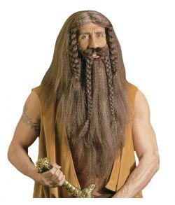 Barbarian vikingeparyk til kostume.