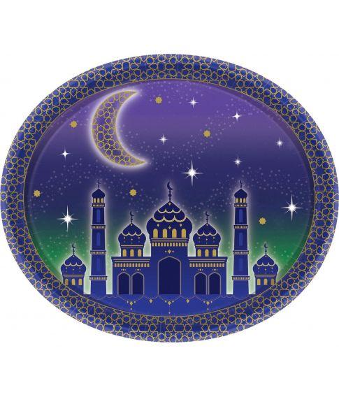 Flotte ovale paptallerkner til Eid festen.