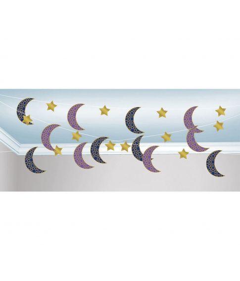 Dekoration til Eid festen med 6 snore med motiv.