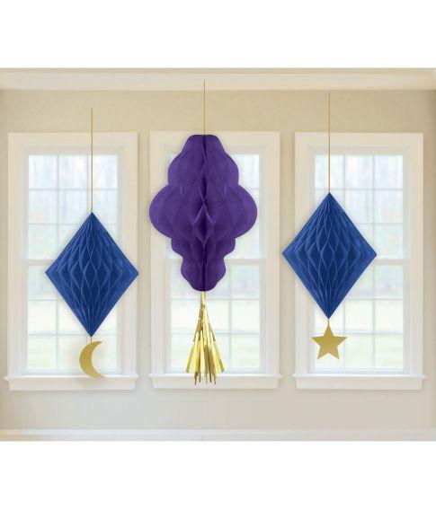 Flotte papirvæv dekoration med vedhæng til Eid festen.