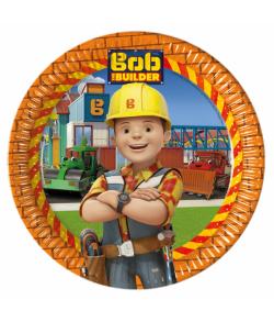 Flotte tallerkner til Byggemand Bob børnefødslesdagen.