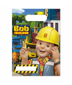 Flotte godte poser med Byggemand Bob til børnefødselsdagen.