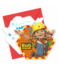 Byggemand Bob invitationer med kuverter.