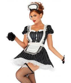 Flot kjole med forklæde og matchende kappe