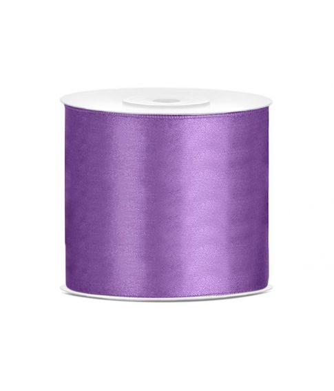 Lavendel satinbånd. 75 mm x 25 m.