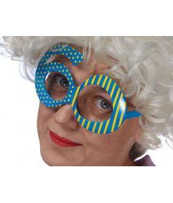 Sjov briller formet som 60 til fødselaren.