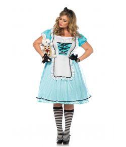 Flot Alice i Eventyrland kjole med forklæde og hårsløjfe