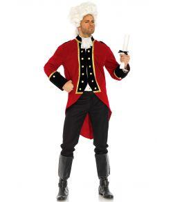 Flot red coat frakke med pludderkrave
