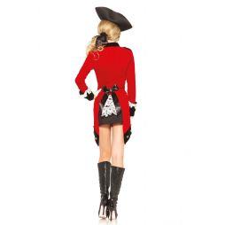 Flot kostume med kjole, jakke, hårbånd og tricorn hat
