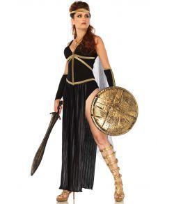 Flot kostume med kjole, armdele og matchende pandebånd