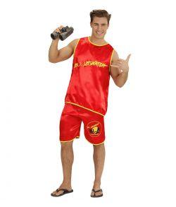 Billigt og behageligt livredder kostume med tanktop og shorts