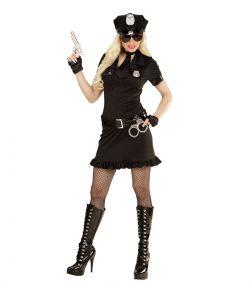 Sort politiuniform til piger til sidste skoledag.