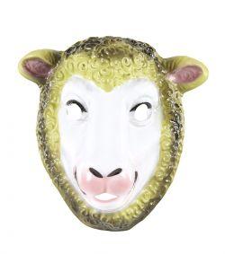 Billig fåremaske i pvc med elastik, til børn