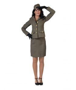 Office kostume med nederdel, jakke og hat.