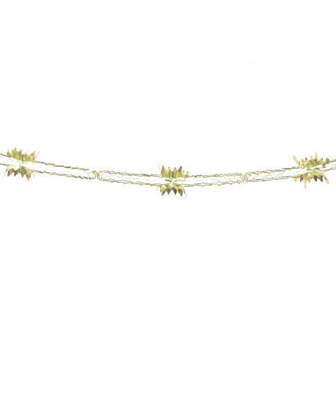 Flot guld folieguirlande, måler 4 meter