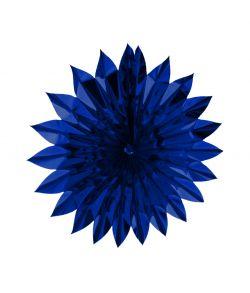 Flot blå sol i metalfolie, 60 cm diameter