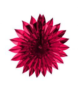 Flot pink sol i metalfolie, 60 cm diameter