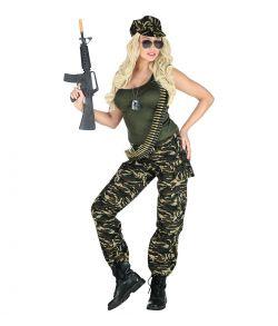 Soldat kostume med tank top, bukser og cap til sidste skoledag.