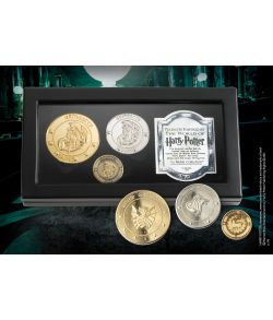 Harry Potter Gringotts bank møntsamling i boks fra Noble Collection.
