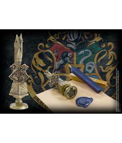 Hogwarts vokssegl i metal med 2 farver voks.