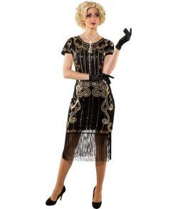 Flot Charleston kjole til 20erne gangsterfesten.