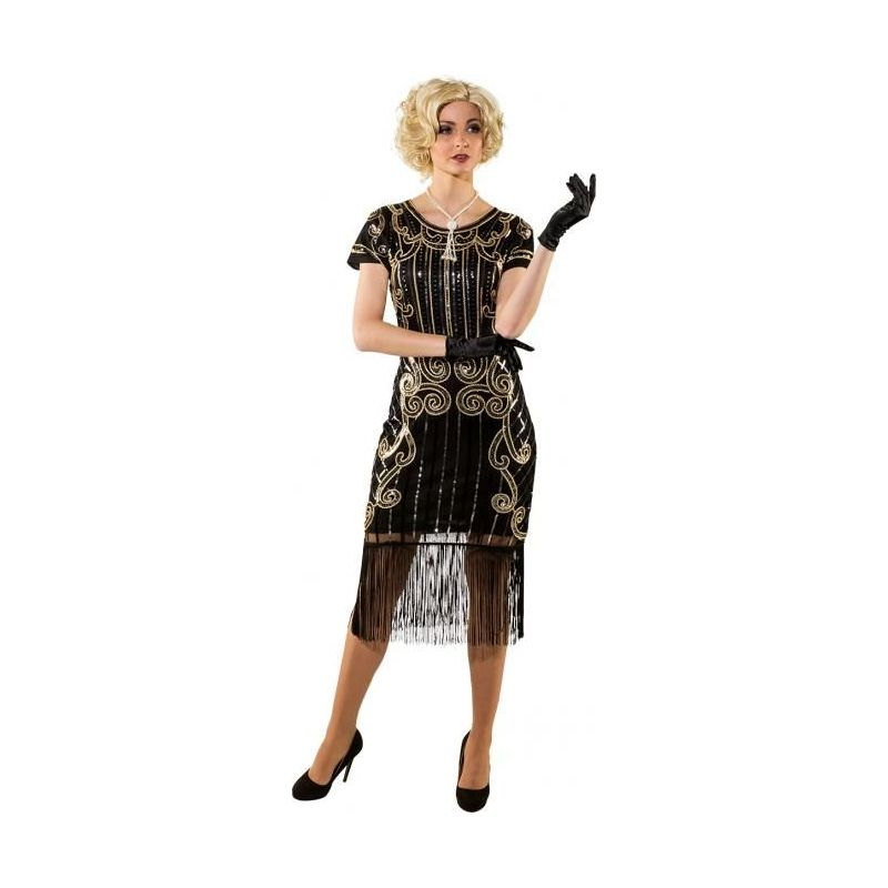 43747461e019 Flot Charleston kjole til 20erne gangsterfesten.