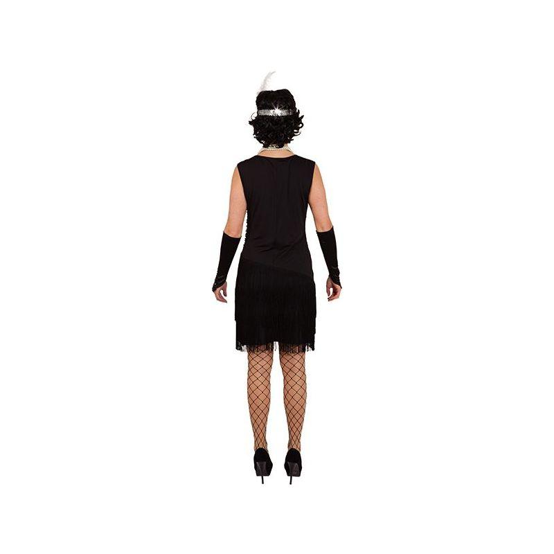 baae16fc Sort Charleston kjole med frynser og sorte pailletter foran.