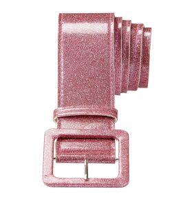 Flot pink glitter bælte til f.eks. disco udklædningen