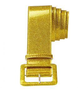 Flot guld glitter bælte til f.eks. disco udklædningen