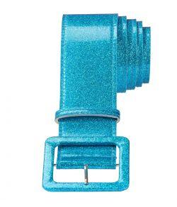 Flot blå glitter bælte til f.eks. disco udklædningen