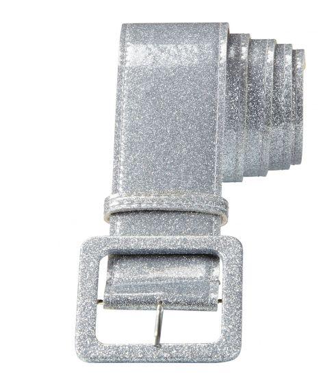 Flot sølv glitter bælte til f.eks. disco udklædningen